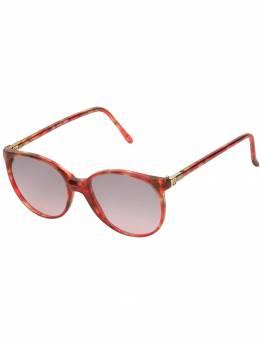 Lanvin Pre-Owned круглые солнцезащитные очки ABC252