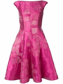 Talbot Runhof платье миди с цветочным жаккардовым узором KORBUT7DE20