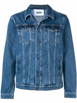 MSGM джинсовая куртка с принтом логотипа 2640MH43LX195284