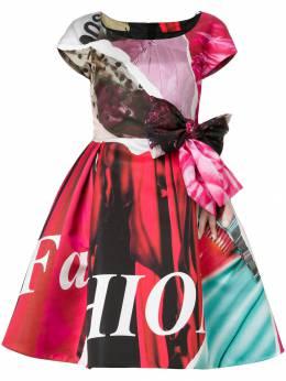 Moschino расклешенное платье с бантом A04015451