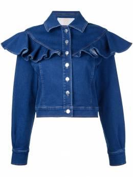 Sara Battaglia джинсовая куртка с оборками SB6006313