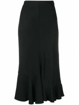 Victoria Beckham юбка с оборками SKMID31004APAW19