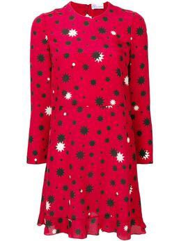 Red Valentino платье прямого кроя с принтом звезд RR3VAA95XKP