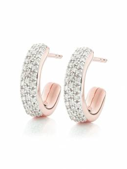 Monica Vinader RP Fiji diamond mini hoop earrings RPEAFAHSDIA