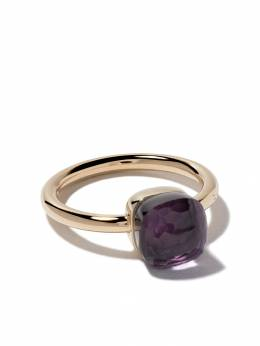 Pomellato 18kt rose & white gold small Nudo amethyst ring AB403O6OI