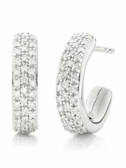 Monica Vinader Fiji mini hoop diamond earrings SSEAFAHSDIA