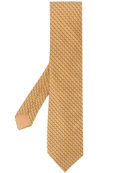 Hermes галстук 2000-х годов с узором pre-owned HERME180W