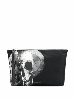 Alexander McQueen клатч с принтом Skull 550813HQN2N