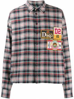 Dsquared2 рубашка в клетку с нашивкой-логотипом S74DM0265S52085