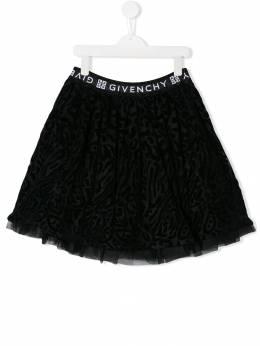 Givenchy Kids юбка мини с логотипом H1302209B