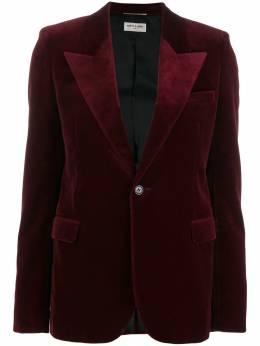 Saint Laurent peaked lapel velvet blazer 531511Y615W