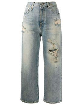 R13 джинсы прямого кроя с эффектом потертости R13W5665962