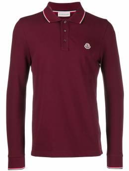 Moncler рубашка-поло с длинными рукавами и логотипом 834800084556