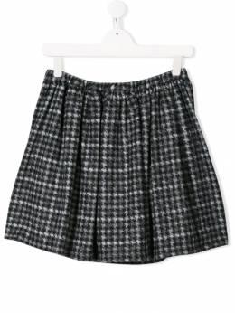 Douuod Kids юбка в ломаную клетку со складками GO032023