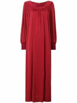 Lanvin Pre-Owned платье со сборками с длинным рукавом LAN480A