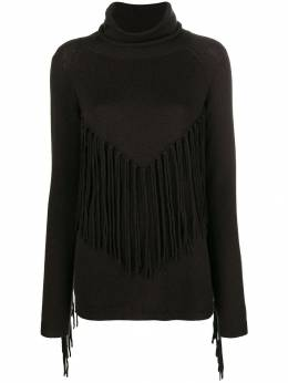 P.a.r.o.s.h. fringed turtle neck sweater D512561LAFRINGE
