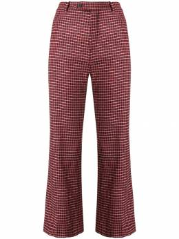 Chloe checked cropped trousers CHC18APA10067