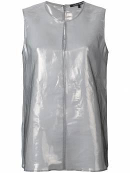 Luisa Cerano блузка без рукавов с металлическим отблеском 2980042293