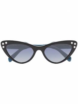 Miu Miu Eyewear солнцезащитные очки в оправе 'кошачий глаз' со стразами SMU05TE1AB