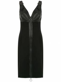 Tufi Duek leather panelled dress 444803595