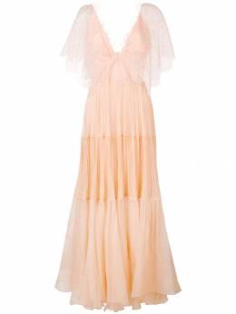 Maria Lucia Hohan платье макси с оборками Tarika TARIKADRESS