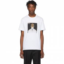 Neil Barrett White Album Cover T-Shirt BJT629S M585S