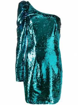 Amen платье на одно плечо с пайетками AMW19431