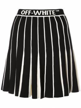 Off-White юбка с контрастными складками OWHL006E19B700771000