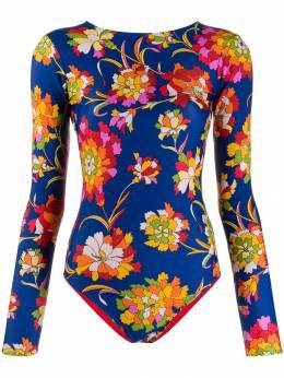 La Doublej двусторонний купальник с цветочным принтом SWI0001LYC001DAN0003