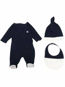 Fendi Kids комплект из пижамы, нагрудника и шапки BUK034ST8