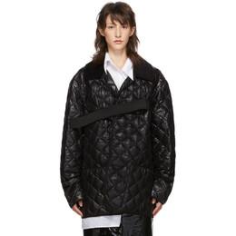 Maison Margiela Black Quilted Glossy Nylon Jacket S50AM0390 S52205 900