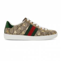 Gucci Beige GG Bee Ace Sneakers 550051 9N020