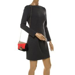Furla Multicolor Suede and Leather Mini Metropolis Crossbody Bag