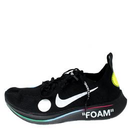 Off-White X Nike Black Zoom Fly Mercurial Flyknit Sneakers Size 38.5