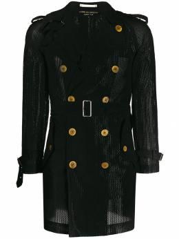 Comme Des Garcons Pre-Owned фактурное пальто CDG1131