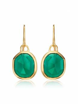 Monica Vinader GP Siren Wire Green Onyx earrings GPEASWERGRO