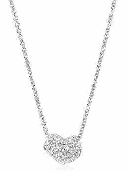 Monica Vinader Nura Mini Heart diamond necklace SSNKCD08DIA