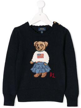 Ralph Lauren Kids bear knitted sweater 312702268