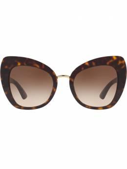 """Dolce&Gabbana Eyewear затемненные солнцезащитные очки в оправе """"кошачий глаз"""" DG431950213"""