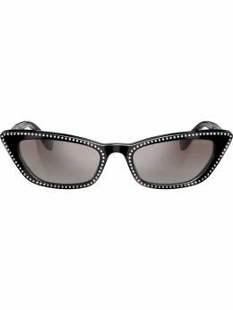 Miu Miu Eyewear солнцезащитные очки в декорированной оправе 'кошачий глаз' MU10US1415O0