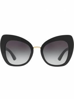 """Dolce&Gabbana Eyewear затемненные солнцезащитные очки в оправе """"кошачий глаз"""" DG43195018G"""