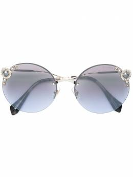 Miu Miu Eyewear солнцезащитные очки с отделкой 'Noir' SMU52T