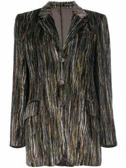 Moschino Pre-Owned велюровый пиджак в полоску MOSC600