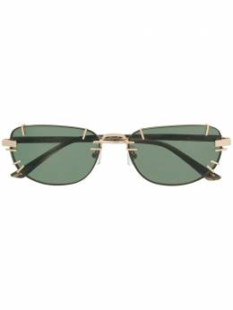 Linda Farrow солнцезащитные очки в прямоугольной оправе YP2