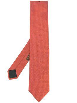 Hermes галстук 2000-х годов с вышитым логотипом HERMES150N