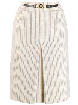 Celine Pre-Owned юбка миди со складками спереди 130436