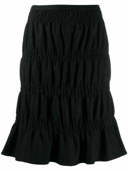 Romeo Gigli Pre-Owned юбка 2000-х годов со сборками RGIG160A