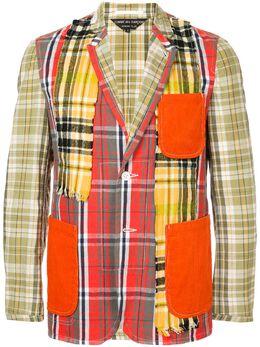 Comme Des Garcons Pre-Owned фланелевый пиджак лоскутного кроя PEJ050