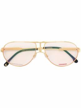 Carrera классические солнцезащитные очки-авиаторы 1109