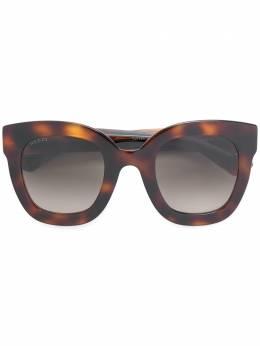 Gucci Eyewear массивные солнцезащитные очки с эффектом черепашьего панциря 610358J1691